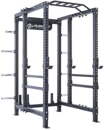 E-4767 Elite Series Power Rack with Two Multi-Grip Chin Up Stations  4 Olympic Bar Holders and Sumo Base in