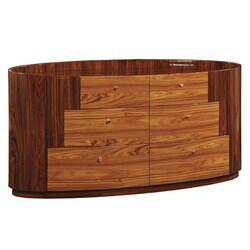 New York Dresser Kokuten Dresser with 6 Drawers in Glossy