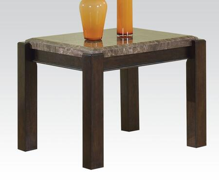 Dwayne Collection 80792 26 inch  End Table with Marble Top in Emparedora Grey