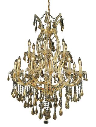 2801D32G-GT/RC 2801 Maria Theresa Collection Hanging Fixture D32in H42in Lt: 18+1 Gold Finish (Royal Cut Golden