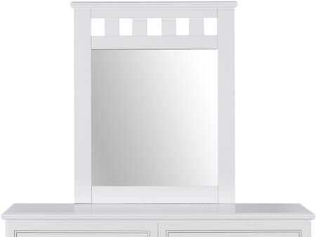 Claire Collection 67068 33 inch  x 40 inch  Mirror with Vertical Open Slats  Medium-Density Fiberboard