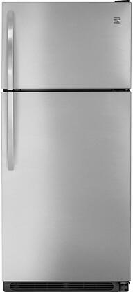 60085 30 Top Freezer Refrigerator with 20.43 cu. ft. Total Capacity  Frost-Free  Gallon Door Bins and Adjustable Glass Shelves in Stainless