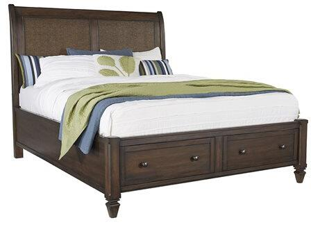 Coronado B130-34-37-79 Queen Storage Bed with Headboard  Storage Footboard and Side Rails in