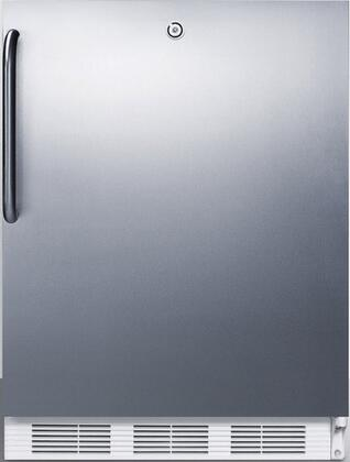 FF6LCSS 24 inch  FF6BI Series Medical Freestanding or Built In Compact Refrigerator with 5.5 cu. ft. Capacity  Door Lock  Crisper  Interior Lighting and Automatic