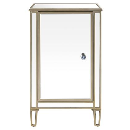 DSD1140031 Ed Wine Cabinet With Gold Trim In Silver