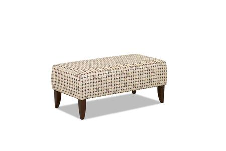 """Piano Collection 9848-OTTOC-SS 48"""""""" Ottoman with Fabric Upholstery  Tapered Legs and Stitched Detailing in Silo"""" 732804"""