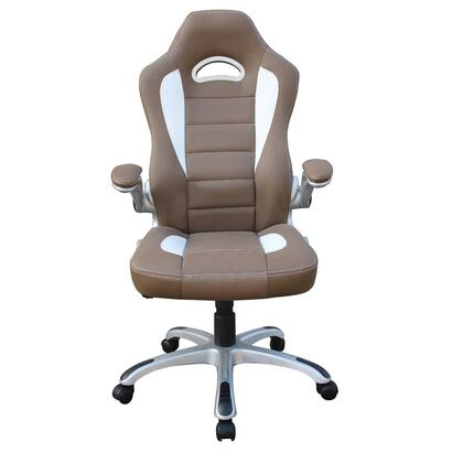 RTA-3527-CM Techni Mobili Sport Race Executive Chair with Flip-up Armrests  Locking Tilt Control and Adjustable Tension Knob in Camel