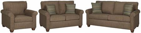 Aubrey U2032-SLC 3-Piece Living Room Set with Stationary Sofa  Loveseat and Chair in