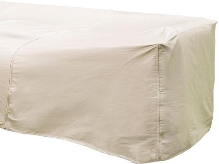 1254-TN 32 inch  x 40 inch  Outdoor Sectional Right Arm Cover with UV Treated  Water Resistant  Soft Fleece Polypropylene Backing and Heavy Duty Vinyl Fabric in Tan