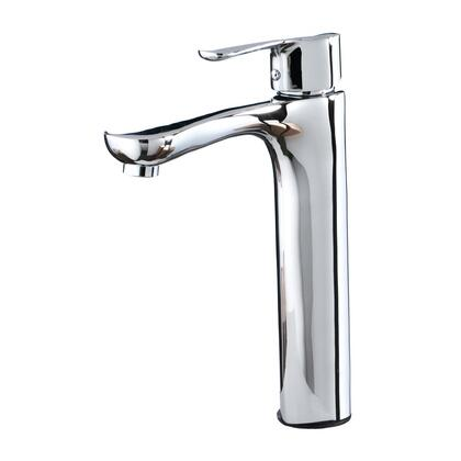 "81H46-CHR 11"" Tall Modern Single Hole Vessel Bathroom Faucet With Single"