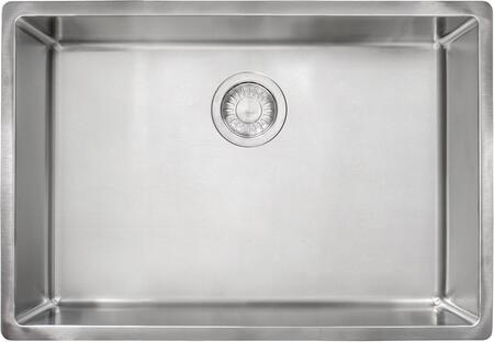 Cube Series CUX11025 27 inch  Stainless Steel Kitchen Sink with 18-Gauge Stainless Steel and Sound Dampening Sound Pads in Satin