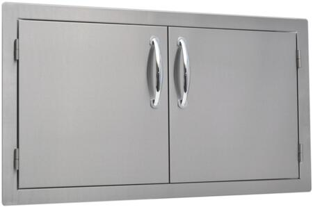 SO2AD36 36 inch  x 20 inch  Built In Stainless Steel Double Door with a Flat Frame  Flush Mount and Self Rimming