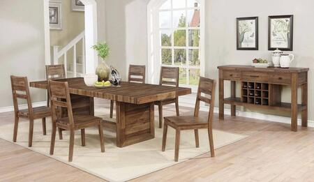 Tucson Collection 108177-S8 8-Piece Dining Room Set with Rectangular Dining Table  6 Side Chairs and Server in