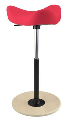 MOVE 2600 DINIMICA 9138 NAT HI BLK 26 inch  - 34 inch  Sit-Stand Chair with Dinimica Upholstery  9138 Color Code  Natural Ash Base  High Lift Height and Black Gas