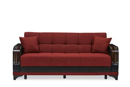 Almira Collection ALMIRA SOFABED BURGUNDY 85