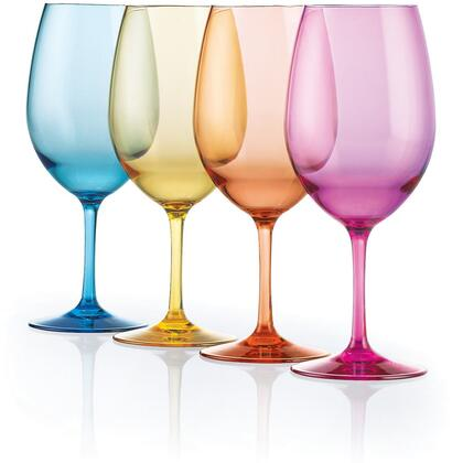 07661104 Indoor/Outdoor Mixed Color Wine Glasses(Set of
