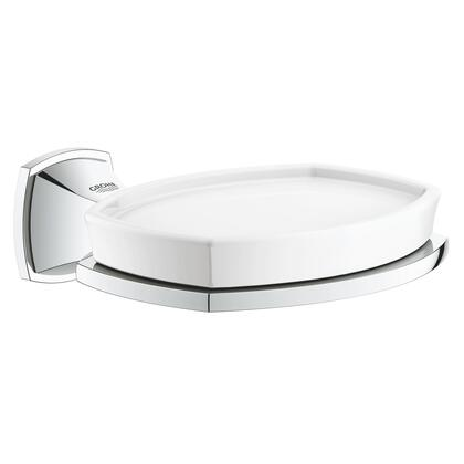 40628000 Grandera Holder With Ceramic Soap Dish  In Starlight