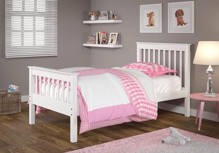 119TW Monaco Mission Twin Bed with Molding Details  Slat Headboards and Footboards in
