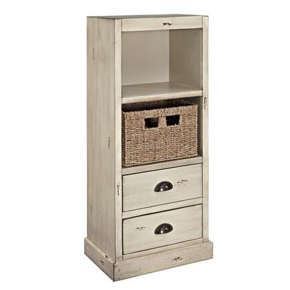 Currituck Collection 15a2064sm 17 Chest With Metal Cup Pulls  Two Drawers  Shelf And Basket In