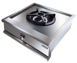 GRT24WK-N 24 Precision Series Natural Gas Power Wok with 30 000 BTU Wok Burner  Cast Iron Grate  and Auto-Ignition  in Stainless