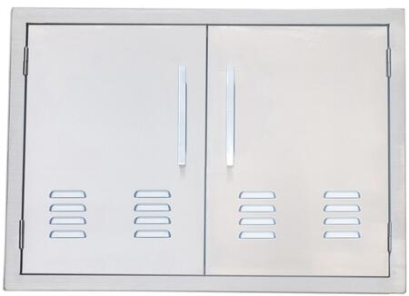 BA-VDD30 Signature Series 30 inch  Belved Frame Vented Double Access Doors in Stainless