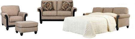 Blackwood 33503QSSLCO 4-Piece Living Room Set with Queen Sofa Sleeper  Loveseat  Chair and Ottoman in Taupe