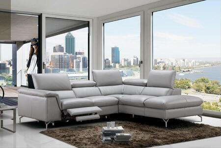 Viola Collection 18235-RHFC 106 inch  2-Piece Sectional Sofa with Right Facing Chaise and Left Facing Sofa in Light