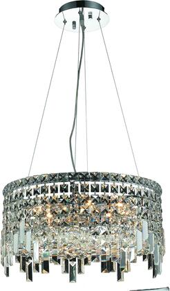 V2031D20C/RC 2031 Maxime Collection Chandelier D:20In H:10.5In Lt:12 Chrome Finish (Royal Cut