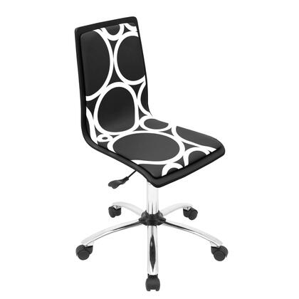 OFC-TM-PCRC BK Printed Height Adjustable Office Chair with Swivel in Black