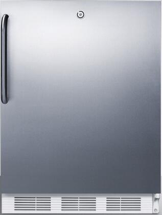FF7LCSS 24 inch  FF7BI Series Medical  Commercially Approved Freestanding or Built In Compact Refrigerator with 5.5 cu. ft. Capacity  Hidden Evaporator  Auto