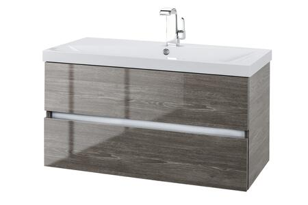 Sangallo Collection FVFOSSILO36 36 inch  Wall Mount Single Sink Vanity with 2 Soft Close Drawers in Gloss Fossil