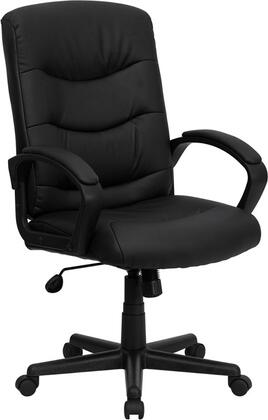 Click here for GO-977-1-BK-LEA-GG Mid-Back Black Leather Office prices