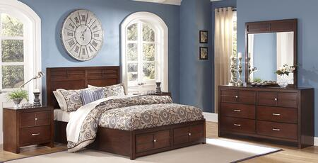 00060qsbdmnc Kensington 5 Piece Bedroom Set With Queen Storage Bed  Dresser  Mirror  Nightstand And Chest  In Burnished