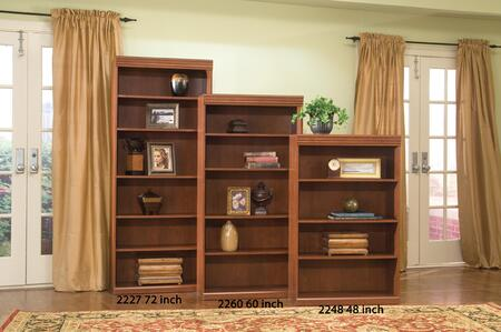 2260 Dawson Ridge 30 inch  Wide x 60 inch  Tall Bookcase with 5 Shelves in Light Wood