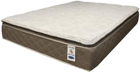 Englander Silver Collection 29134 12 inch  King Size Pillow Top Mattress with Innerspring Continuous Coil  Made in USA and Foam Encased Construction in White and