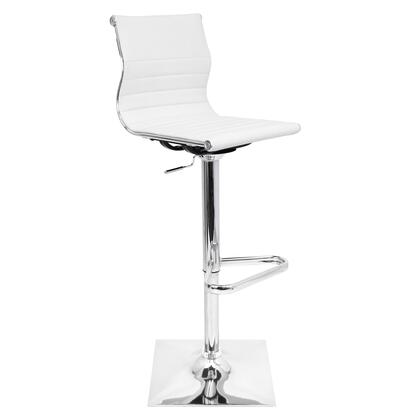 BS-TW-MASTER W Master Height Adjustable Contemporary Barstool with Swivel in