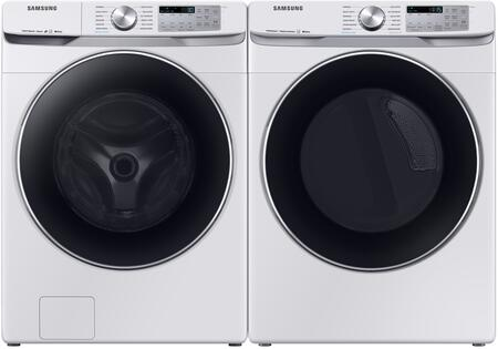 Front Load Laundry Pair with WF45R6300AW 27