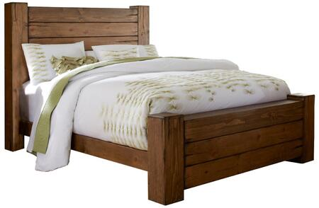 Maverick P626-94-95-78 King Sized Panel Bed with Headboard  Footboard and Side Rails in