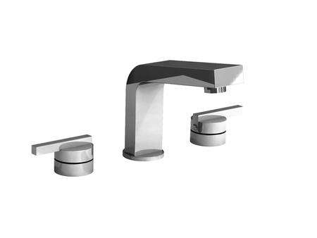 28016-18073-WH Hey Joe 5-1/4 inch  Widespread Lavatory Faucet w/ Lever Handles in