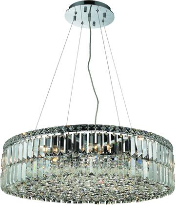 V2030D28C/RC 2030 Maxime Collection Chandelier D:28In H:7.5In Lt:12 Chrome Finish (Royal Cut