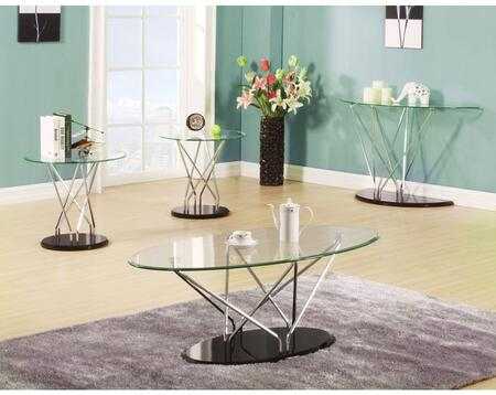 Ronli 80750CSE 4 PC Living Room Table Set with Coffee Table + Sofa Table + 2 End Tables in Black