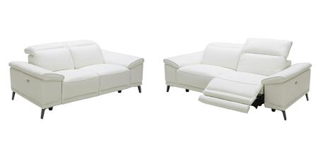 Gaia Collection 18253-SL 2-Piece Living Room Set with Reclining Sofa and Loveseat in