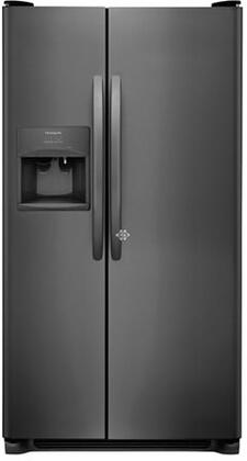 Frigidaire FFSS2615TD 36 Inch Freestanding Side by Side Refrigerator with 25.5 cu. ft. Capacity, in Black Stainless Steel
