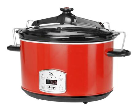 SC 41175 R Red 8 Qt Digital Slow Cooker with Locking