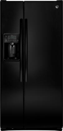 GE 23.2 Cu. Ft. Side-by-Side Refrigerator Black GSS23GGKBB