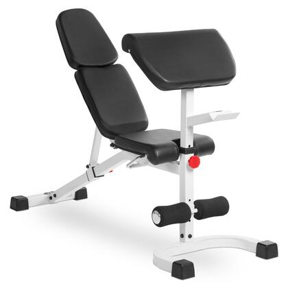 XM-4417-WHITE FID Flat Incline Decline Weight Bench with Preacher