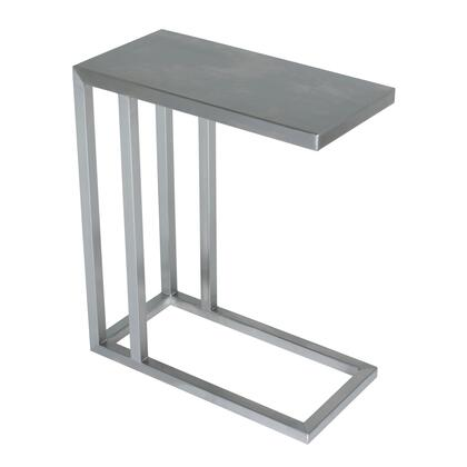 XX6 24 Diam x 24H Philosophy C-table in Brushed Stainless Steel