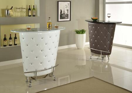 NOLITA-BAR-BRW Modern Home Bar with Glass Top in