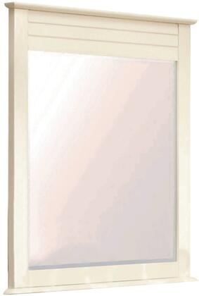 Ice Cream At The Beach Collection CF-1734-0111 35 inch  x 39 inch  Mirror with Closed Shutter Top Panel  Beveled Glass and Solid Wood Veneers Over Durable MDF