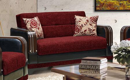 Almira Collection ALMIRA LOVE SEAT BURGUNDY 61